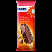 Мороженое ЛЕНТА эскимо пломбир шоколадный в шок. глазури с орехами