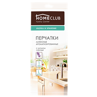 Перчатки HOMECLUB латексные ароматиз.,р.S, M, L