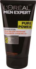Гель д/умывания L'OREAL Черный уголь Pure Power Men Expert 100мл
