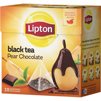 Чай черный LIPTON Pear Chocolate аромат. к/уп
