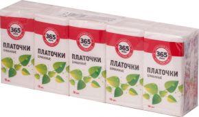 Платочки 365 ДНЕЙ бумаж уп.10х10