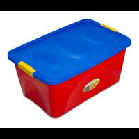 Ящик для игрушек MARTIKA Астело колор, 600х400х280мм, на колесиках С665-01-КОЛ