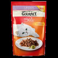 Корм для взрослых кошек GOURMET Mon Petit c ягненком консер.