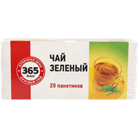 Чай зеленый 365 ДНЕЙ Б/К к/уп