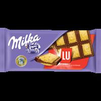Шоколад MILKA LU молочный с печеньем