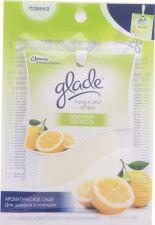 Средство д/ароматизации воздуха GLADE Ароматическое саше hang it and refresh Лимонная свежесть 8г