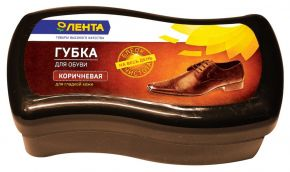 Губка д/обуви ЛЕНТА коричневая