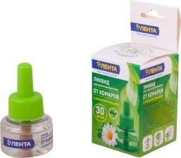 Ликвид от комаров ЛЕНТА с ароматом ромашки для электорофумигатора 30 ночей 30мл