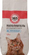 Наполнитель 365 ДНЕЙ для кошачьего туалета впитывающий 2,5кг