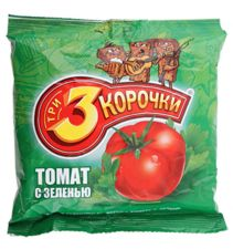 Сухарики ТРИ КОРОЧКИ ржаные томат с зеленью 100г