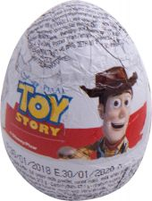 Яйцо шоколадное LUIGI ZAINI История игрушек с сюрпризом 20г