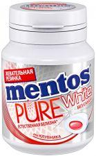 Жев. резинка MENTOS Pure white со вкусом клубники 54г