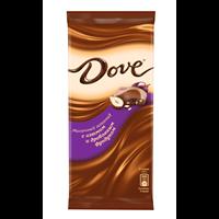 Шоколад DOVE Мол.фундук/изюм