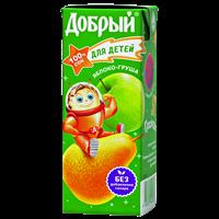 Сок ДОБРЫЙ Slim Яблоко-Груша т/пак.