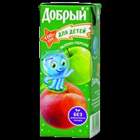 Сок ДОБРЫЙ Slim Яблоко-Персик т/пак.