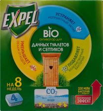 Биоактиватор EXPEL д/дачных туалетов и септиков, 4таб