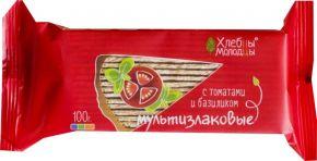 Хлебцы ХЛЕБЦЫ-МОЛОДЦЫ мультизлаковые с томатом и базиликом 100г