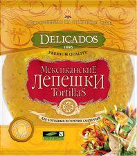 Лепешки тортильи DELICADOS пшеничные со вкусом сыра 400г