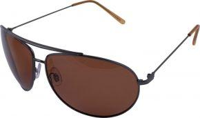 Очки поляризационные CAFA FRANCE с коричневой линзой, с металлической оправой