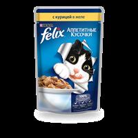 Корм для кошек FELIX С курицей  полнорац.консер.