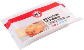 Котлеты 365 ДНЕЙ куриные с картофельным пюре под белым грибным соусом 300г