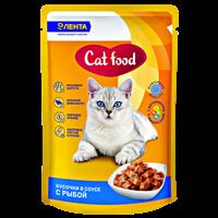 Корм для кошек ЛЕНТА консервированный с рыбой