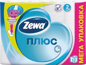 Бумага туалетная ZEWA Плюс Белая 2-сл. 12шт