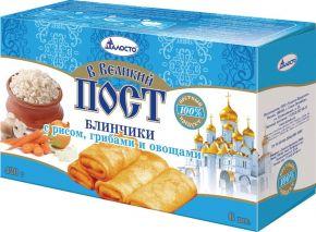 Блинчики ПОСТ постные рис/грибы/овощи 420г