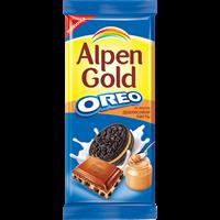 Шоколад ALPEN GOLD Орео молочный с начинкой со вкусом арахис пасты и кусоч печ