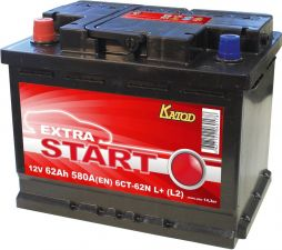 Батарея аккумуляторная EXTRA START 6CT-62N L+(L2)