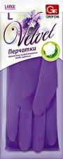 Перчатки хозяйственные GRIFON Velvet, латексные, ароматизированные, р-р L