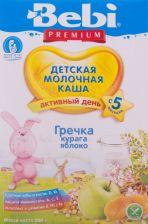 Д/п каша BEBI Premium Гречневая с курагой и яблоком с 5 мес 200г