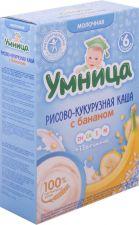 Д/п каша УМНИЦА Молочная Рисово-кукурузная с бананом с 6 мес 200г