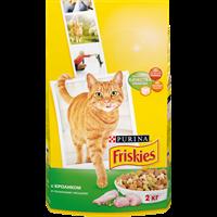 Корм для взрослых кошек FRISKIES С кроликом и полез. овощами д/стерилизованных сух.