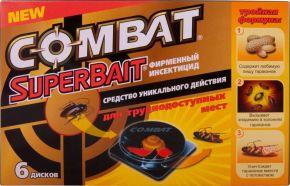 Инсектицид COMBAT Super Bait  д/бор.с тараканами 6шт