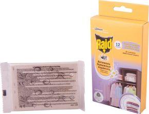 Подвески RAID Антимоль бумажные с ароматом весенних цветов 12шт