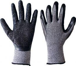 Перчатки полиэстер меланж с покрыт. из вспен. латекса