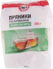 Пряники 365 ДНЕЙ с мятным вкусом глазированные б/начинки 350г
