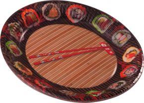 Набор тарелок POL-MAK одноразовых праздничных d=227мм, бумага 8шт