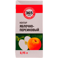 Нектар 365 ДНЕЙ Яблочно-персиковый т/пак.
