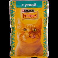 Корм для взрослых кошек FRISKIES С уткой в подливе