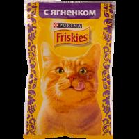 Корм для взрослых кошек FRISKIES С ягненком в подливе