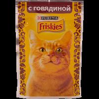Корм для взрослых кошек FRISKIES С говядиной в подливе