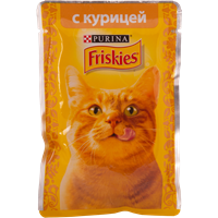 Корм для взрослых кошек FRISKIES С курицей в подливе