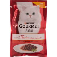 Корм для взрослых кошек GOURMET Mon Petit c говядиной консер.
