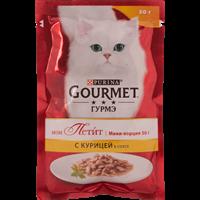 Корм для взрослых кошек GOURMET Mon Petit c курицей консер.