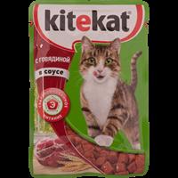 Корм для кошек KITEKAT Говядина в соусе