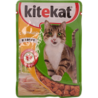 Корм для кошек KITEKAT Курица в соусе