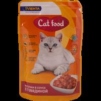 Корм для кошек ЛЕНТА консервированный  с говядиной