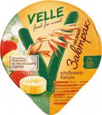 Продукт овсяный VELLE ферментированный Овсяный завтрак клубника-банан 175г